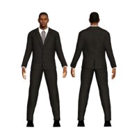3D business character man