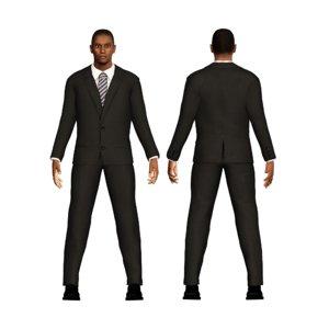 3D business character man