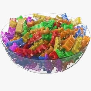 3D gummy bears candy bowl