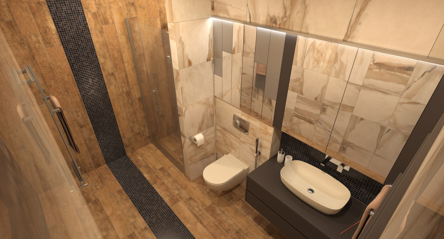 photorealistic bathroom interior - 3D