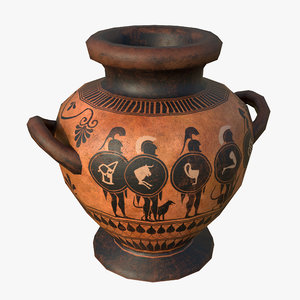 greek stamnos vase 3D model