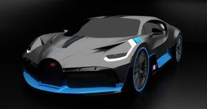 2019 supercar bugatti divo 3D model
