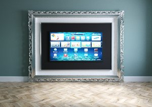 tv furniture baguette 3D model