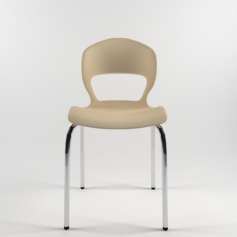 modern design chair kitchen 3D model