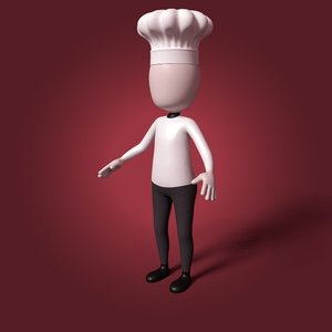 cartoon chef 3D model