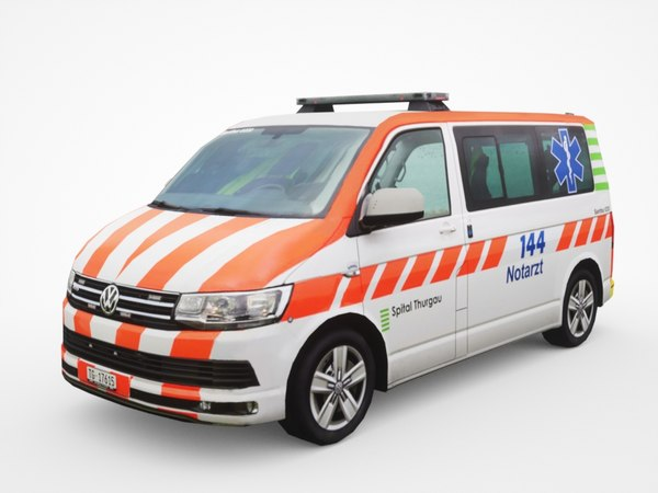 volkswagen transporter t6 ambulance 3D model