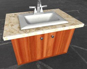 3D bathroom vanity