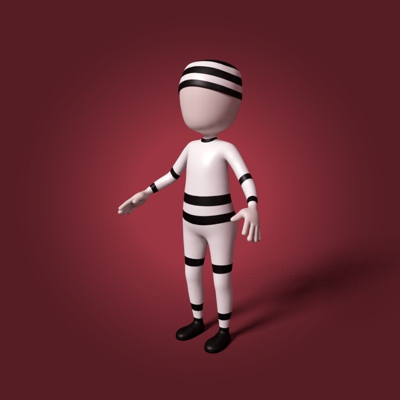 3D prisoner cartoon