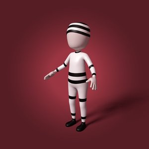 3D prisoner cartoon