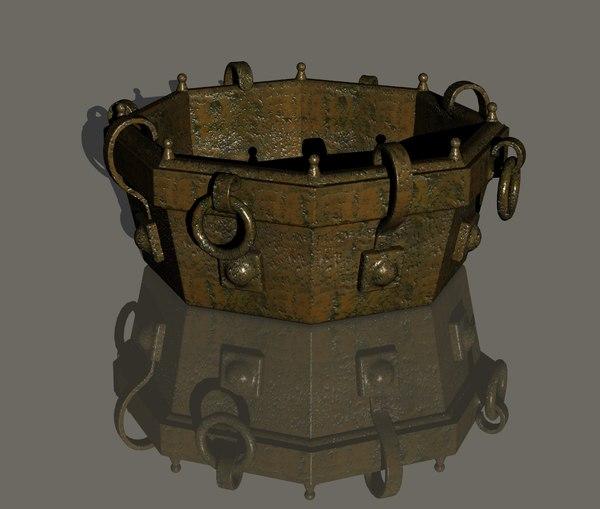 3D firepit model