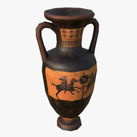 greek amphora vase 3D