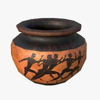 3D greek lebes vase model