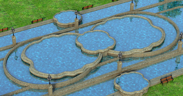 fountain pond fount 3D model