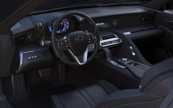 lexus car interior 3D model