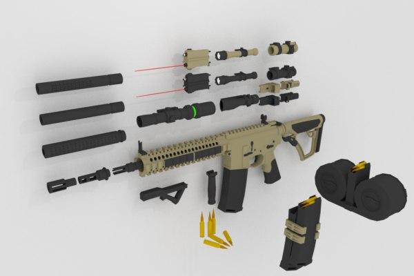 mk-18 sopmod 3D model