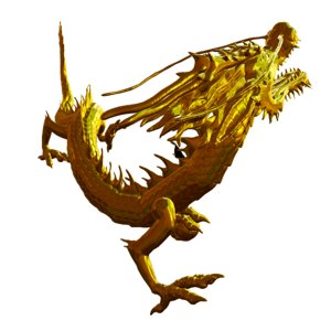 golden chinese dragon 3D