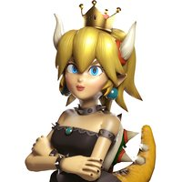 bowsette rigged model