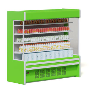 large green market fridge model