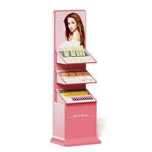 3D model pink market stand cosmetics