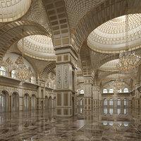 3D classic interior room scene