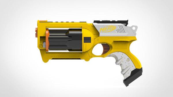 3D maverick nerf gun model