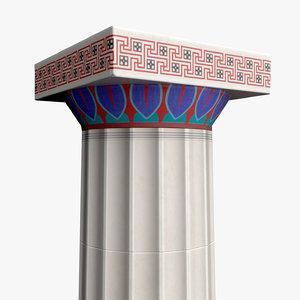 doric order column polychromy 3D model
