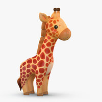 cute cartoon giraffe 3D