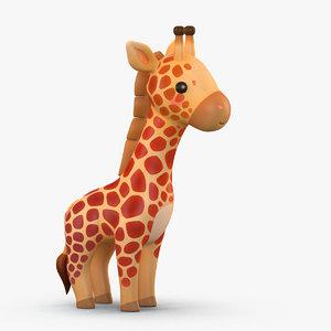 cute cartoon giraffe 3D