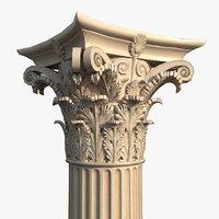corinthian order column crude model