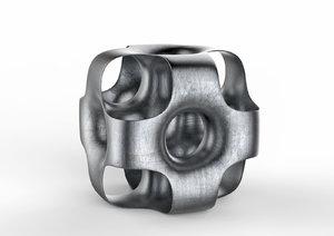 3D metal cube