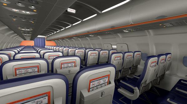 interior airbus a320 model