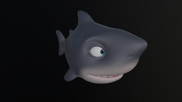 shark - animal cartoons 3D