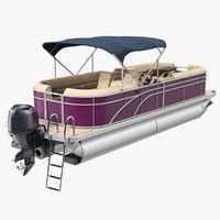 trimaran pontoon boat model
