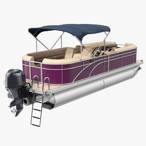 trimaran pontoon boat model