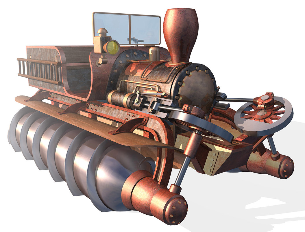 vehicle screw propelled 3D model
