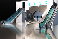 3D bank safe model