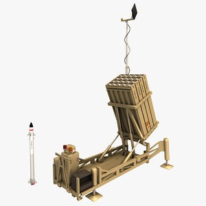 realistic iron dome 3d 3ds