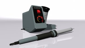 soldering iron 3D model
