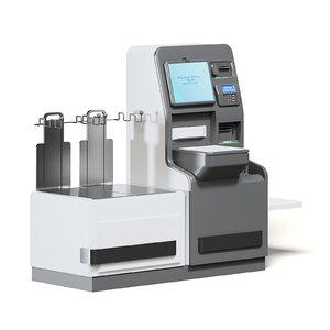 3D self service cash register