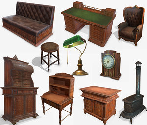 antiquare furniture pbr antique 3D model