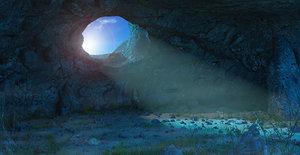 3D cave cavern model
