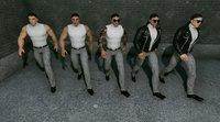 3D hero mafia men - model