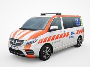 mercedes-benz v-class ambulance 3D model