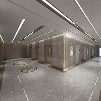 hotel corridor model