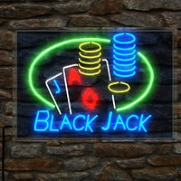 Blackjack neon sign