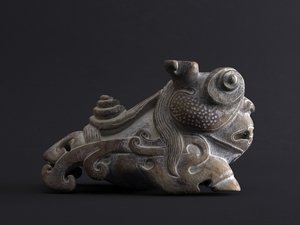ancient chinese jade carved 3D model