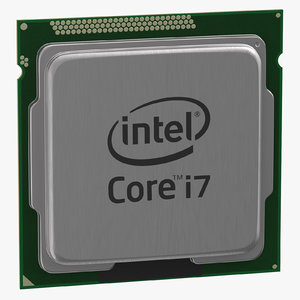 3D model intel i7 cpu