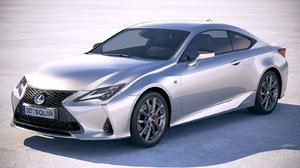 3D model lexus rc 2019