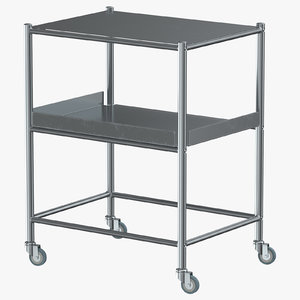 3D stainless medical trolley