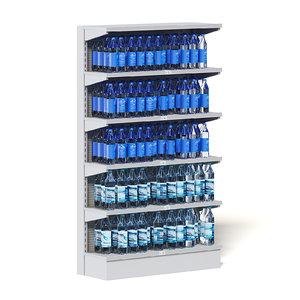 market shelf water 3D